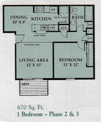 1 Bedroom - Phase 2 & 3